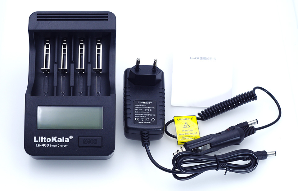 Liitokala lii 400 LCD 18650 26650 18350 16340 10440 14500 18500 3 7V lithium battery NiMH 1 2V AA AAA battery charger in Chargers from Consumer Electronics