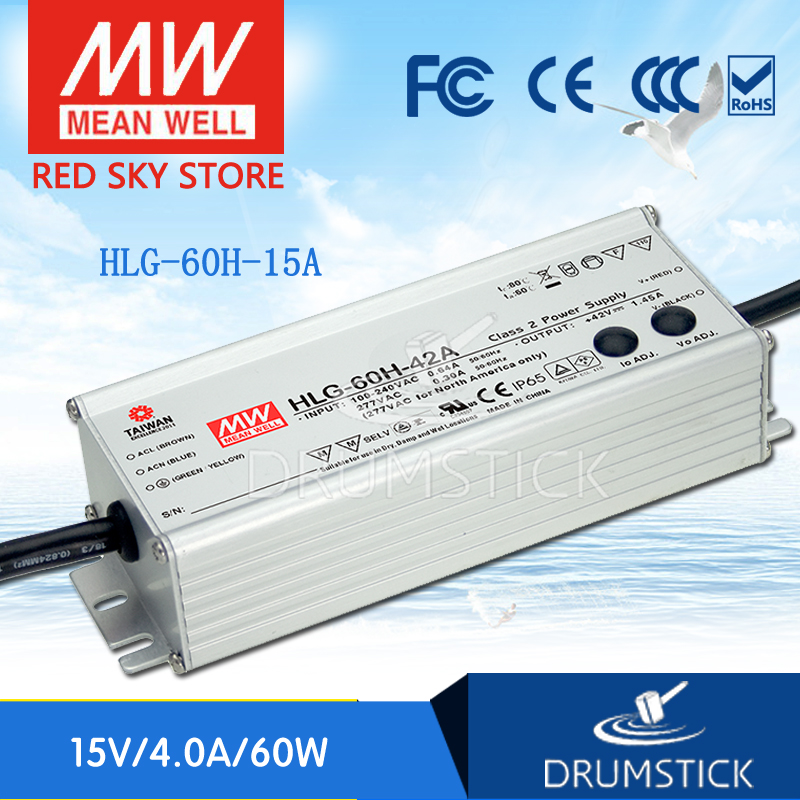 Advantages MEAN WELL HLG-60H-15A 15V 4A meanwell HLG-60H 15V 60W Single Output LED Driver Power Supply A type advantages mean well hlg 60h 36b 36v 1 7a meanwell hlg 60h 36v 61 2w single output led driver power supply b type