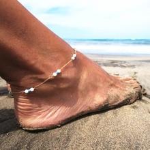 Лето горячая распродажа новинка ноги ювелирных посеребренные бусины бирюзовый ножной браслет подарок для женщин а-26