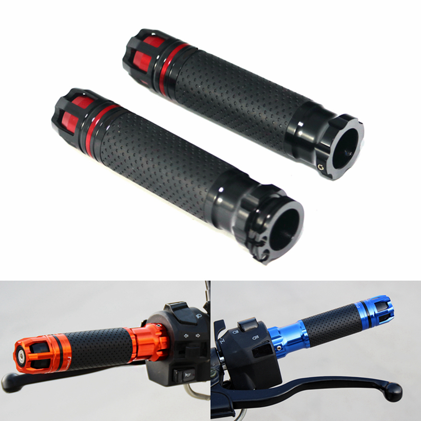 Universal Motorcycle 7/8 22MM Handlebar Grips Handle Bar End Skid Hand Grip CNC Aluminum dc power supply uni trend utp3704 i ii iii lines 0 32v dc power supply