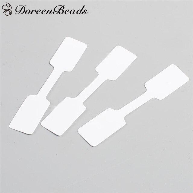 """Mercado DoreenBeads Tag Etiquetas de Papel Branco Para Casa DIY Suprimentos Multi Uso Preço Tags 60mm (2 3/8 """") x 12mm (4/8""""), 50 PCs"""