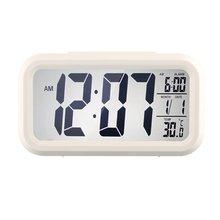 LUMINOVA квадратный Форма светодио дный Дисплей цифровой электронный будильник Подсветка Контроль температуры Время Календарь + термометр