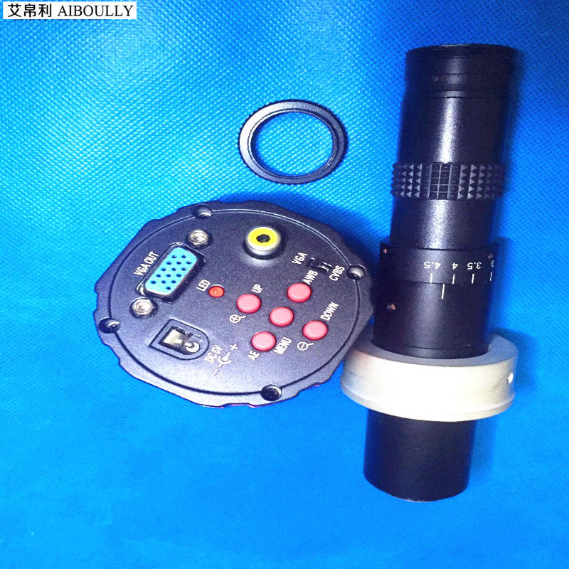 все цены на AIBOULLY C-Mount video microscope 0745 lens 2 megapixel VGA camera phone electronic maintenance PC welding microscope magnifier онлайн