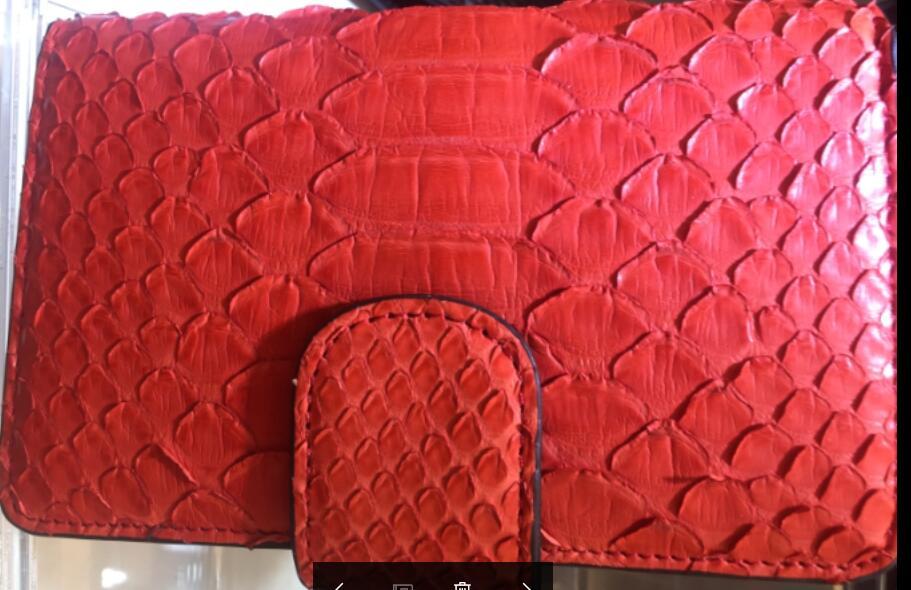 Sac à main pour femmes véritable peau de serpent court portefeuille pour femmes célèbre Designer Style Triple embrayage