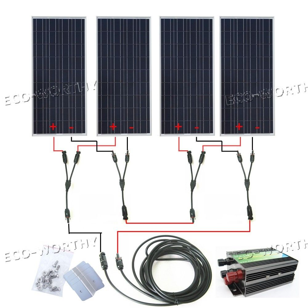 400Watt COMPLETE KIT  4*100Watts Photovoltaic Solar Panel for 24V System RV Boat Solar Generators photovoltaic technology for socially viable product design
