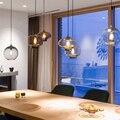E27 Лофт подвесные лампы для кухни  гостиной  спальни  ресторана  Холла отеля  скандинавские современные красочные стеклянные чаши  подвесные...