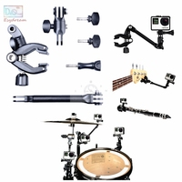 The Jam Camera Adjustable Music Mount Clip Clamp Bracket For Gopro Accessories Hero 2 3 3