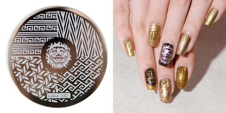 1 PCS Hot Lotus/Lion/Animal Design Nail Art Stamping Plates Stamp Templates Easy Pick Up Image Transfer Gel Polish Manicure DIY