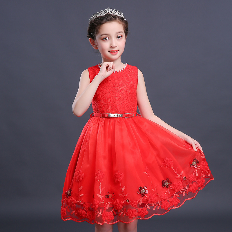 ChildrenS Clothing Kids Girls Dresses Summer Fashion Sleeveless Princess Dress Child Girl Lace Dance Show Costume Party DressesChildrenS Clothing Kids Girls Dresses Summer Fashion Sleeveless Princess Dress Child Girl Lace Dance Show Costume Party Dresses