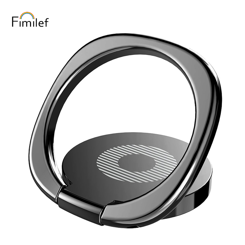 Luxury 360 Degree Universal Phone Metal Finger Ring Holder For IPhone Samsung Xiaomi Mobile Phone Finger Stand Mount Support