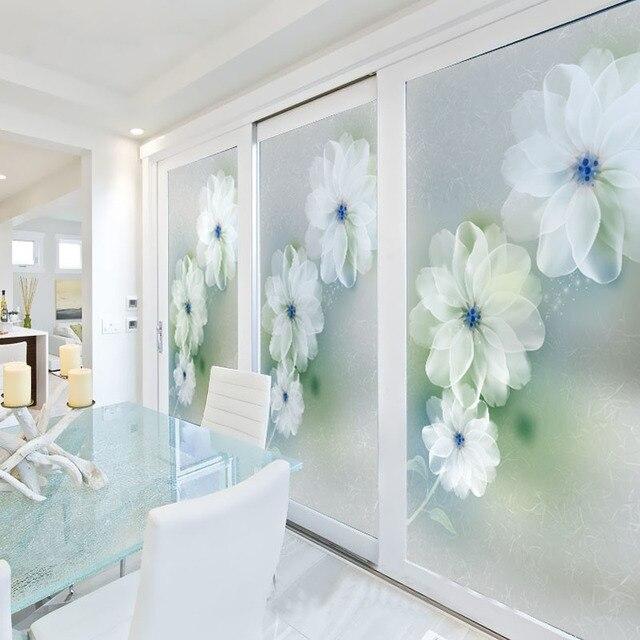 Window Wardrobe: Customized Stained Glass Window Film Sliding Door Closet