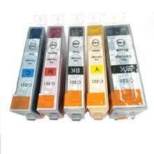5pcs PGI 520 CLI 521 Ink Cartridge for Canon MP540 MP550 MP560 MP620 MP630 MP640 MP980 MP990 MX860 MX870 printer ink With Chip цены