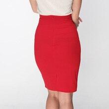 Pencil Skirt With High Waist Tight