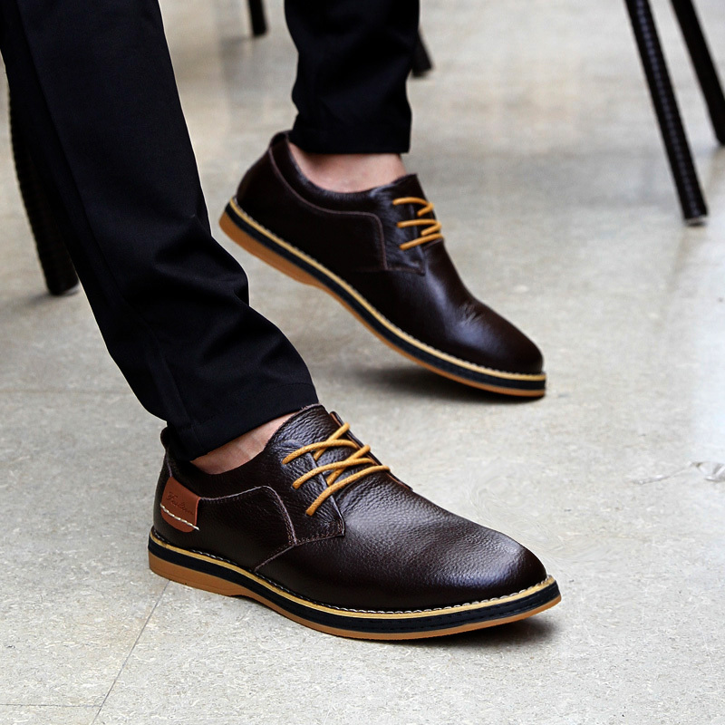 New Leader Male Shoe Leisure Shoes Fashion Men Oxford Work Dress