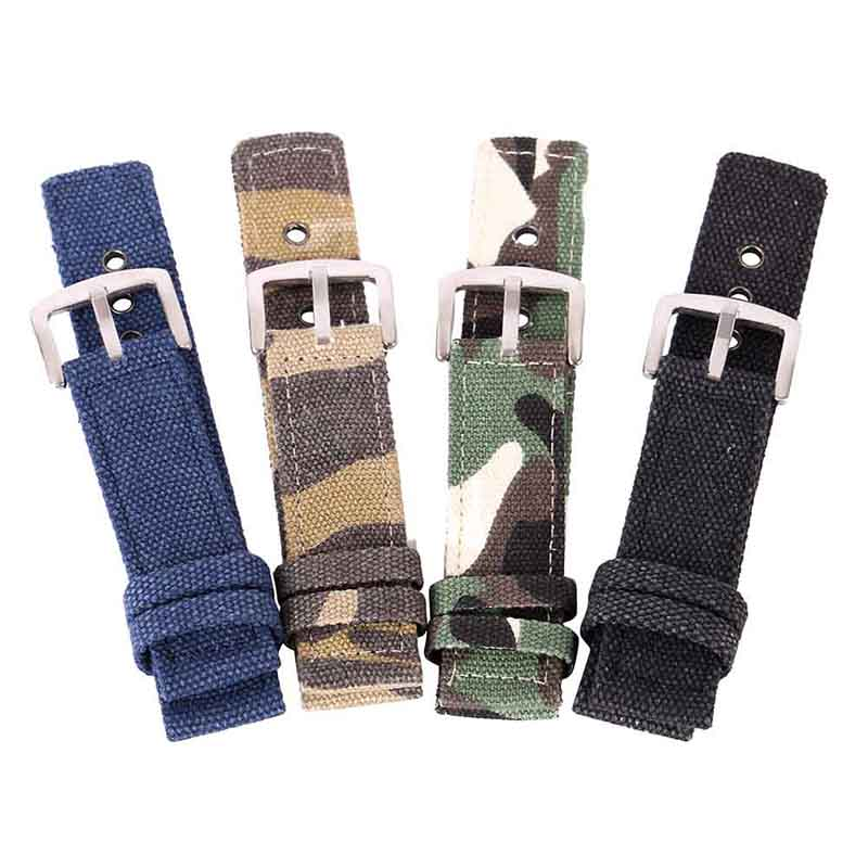 18mm 20mm 22mm 24mm Canvas Watch Band Strap  Men Women Fashion Watchbands  Sport Watches Belt Accessories  2017 canvas blue fashion watch band strap 20 22mm wrist watches replacement bands for men boy male bd0134