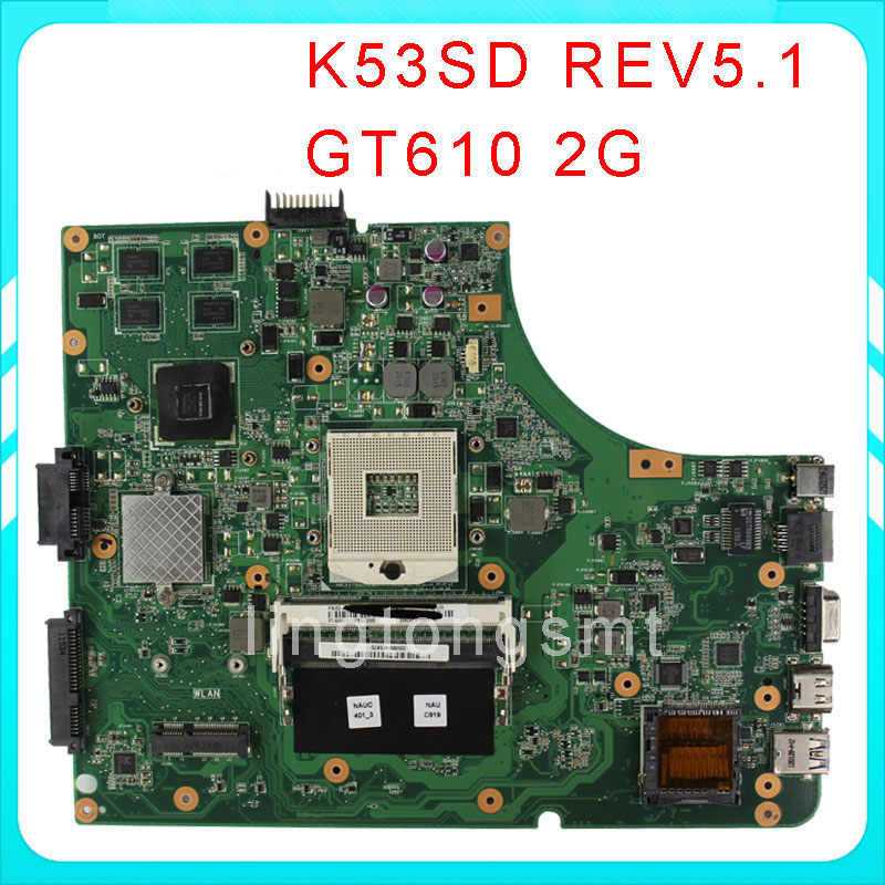 for ASUS K53SD motherboard K53SD REV5.1 Mainboard GT610M 2GB HM65 Chip PGA989 DDR3 100% tested фотобумага lomond а4 100г кв м двухсторонняя матовая 100л 0102002
