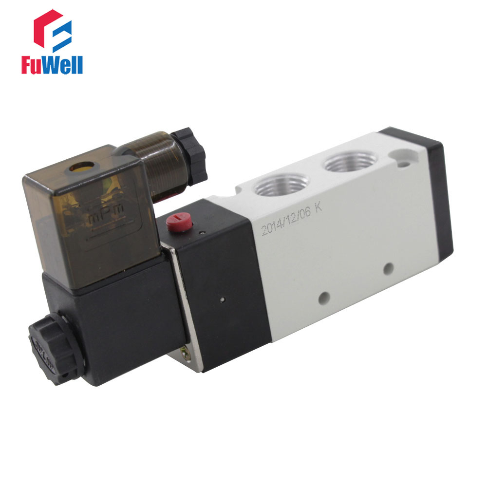 4V310-10 Pneumatic Solenoid Valve AC 380V 5 Ports 2 Positions Solenoid Air Valve Aluminum Alloy PT3/8 Air Control Valve high quality ac 220v 4v310 10 2 position 5 way air solenoid valve free shipping
