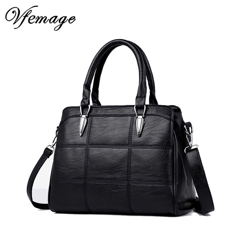 Vfemage New Luxury Handbags Women Leather Shoulder Bags Large Capacity Female Tote Bag High Quality Crossbody