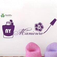 YOYOYU Wall Decal Modern Nails Salon Sticker Vinyl Polish Manicure Girl Beauty Livingroom Home Decor JM2