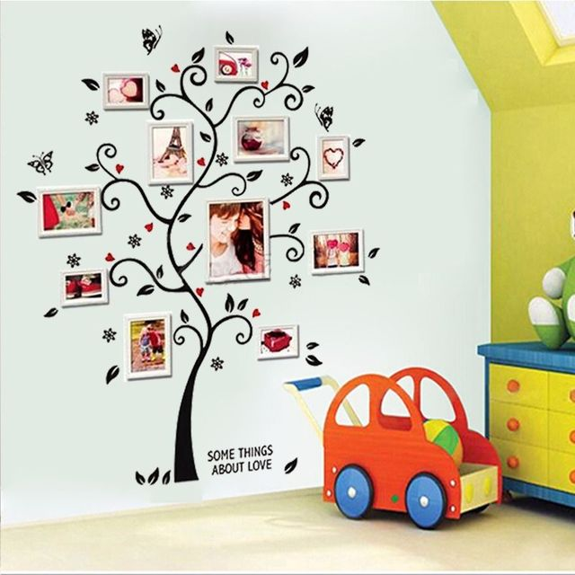 Photos Family Tree Wall Stickers Quotes Living Room Decorations 6031. Diy  Home Decals Removable Mural