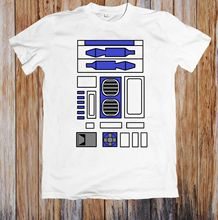 R2D2 DESIGN UNISEX T-SHIRT New T Shirts Funny Tops Tee New Unisex Funny High Quality Casual Printing 100% Cotton цена