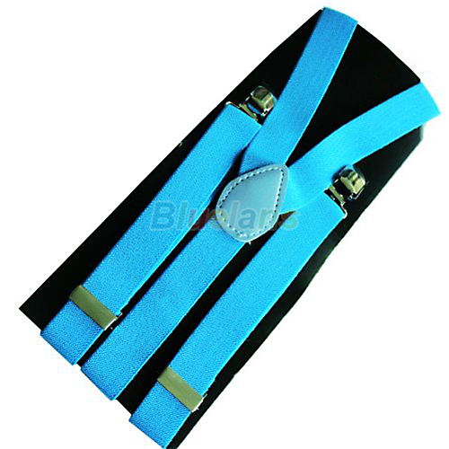 1PC New Mens Womens Unisex Clip-on Suspenders Elastic Y-Shape Adjustable Braces Colorful 0J6G BCX5