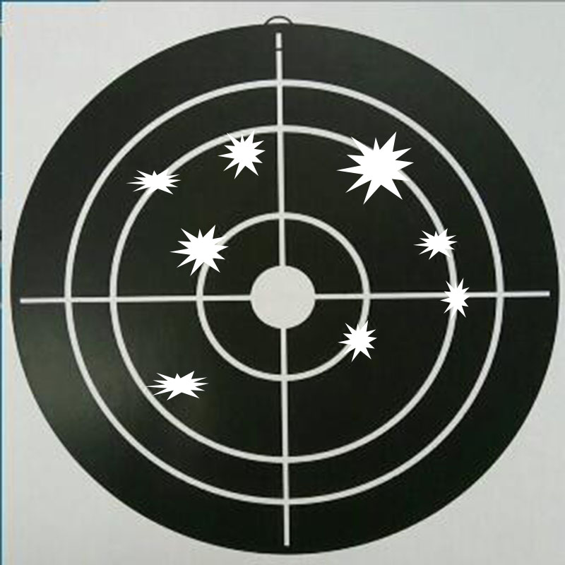 Splatter paper target for shooting - Instantly See Your Shots Burst Bright Florescent white Upon Impact!