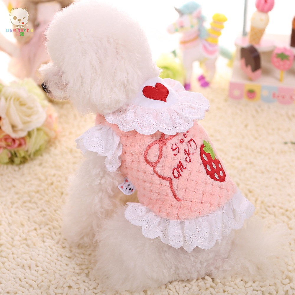 Productos para mascotas Ropa Para Perros Lindo Fresa Camisa de ...