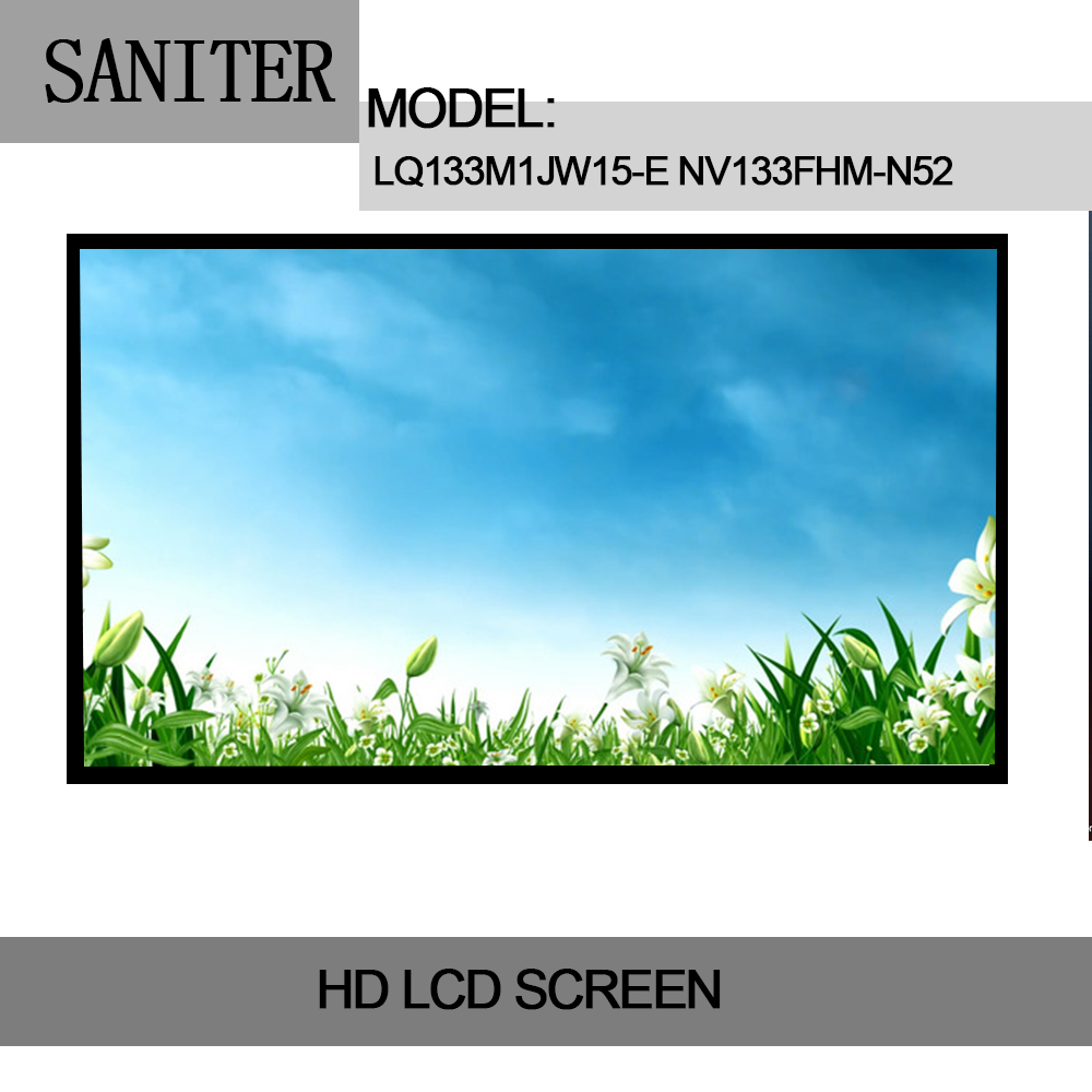 SANITER Apply to IdeaPad 710S-13ISK LCD screen LQ133M1JW15-E NV133FHM-N52 LP133WF6 SPB1 Laptop LCD Screen saniter ltn140kt08 801 apply to samsung np700z3a s03us special 14 inch high score laptop lcd screen