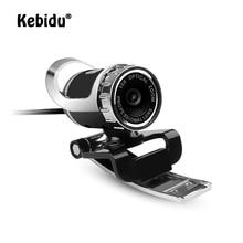 Kebidu веб-камера USB высокой четкости веб-камера 360 градусов микрофон клип-на для Skype для Youtube компьютер ноутбук камера для ноутбука