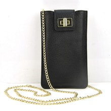 Frauen-echtes Leder Handy Tasche Schulter Crossbody Kette Handtasche Mobilen Geldbörse Lässige Mode Dame Taschen Kartenhalter Fall