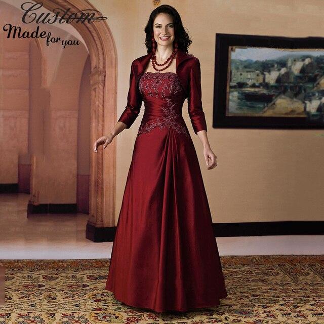 Vestido De Festa 2016 Wine Red Plum Evening Party Gowns