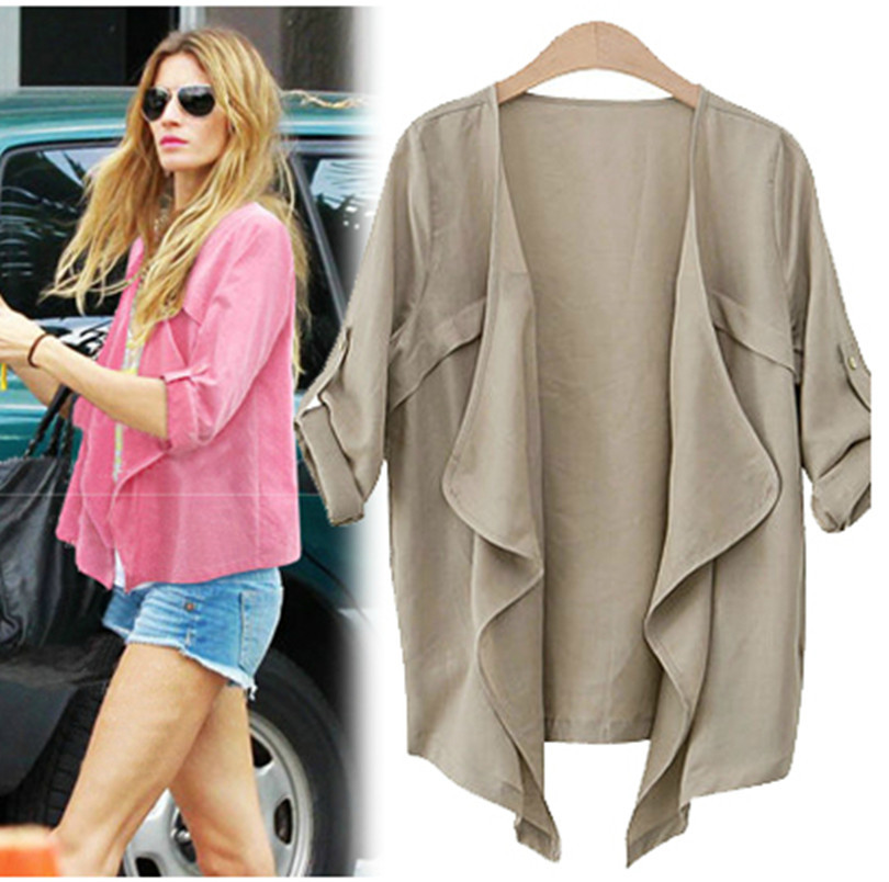 Women Summer Coat 2014 Plus Size Short Paragraph Jacket ...