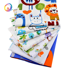 Haisen,7pcs/lot,Cartoon Series,Twill Cotton Fabric,Patchwork Cloth,DIY Sewing Quilting Fat Quarters Material For Baby&Children