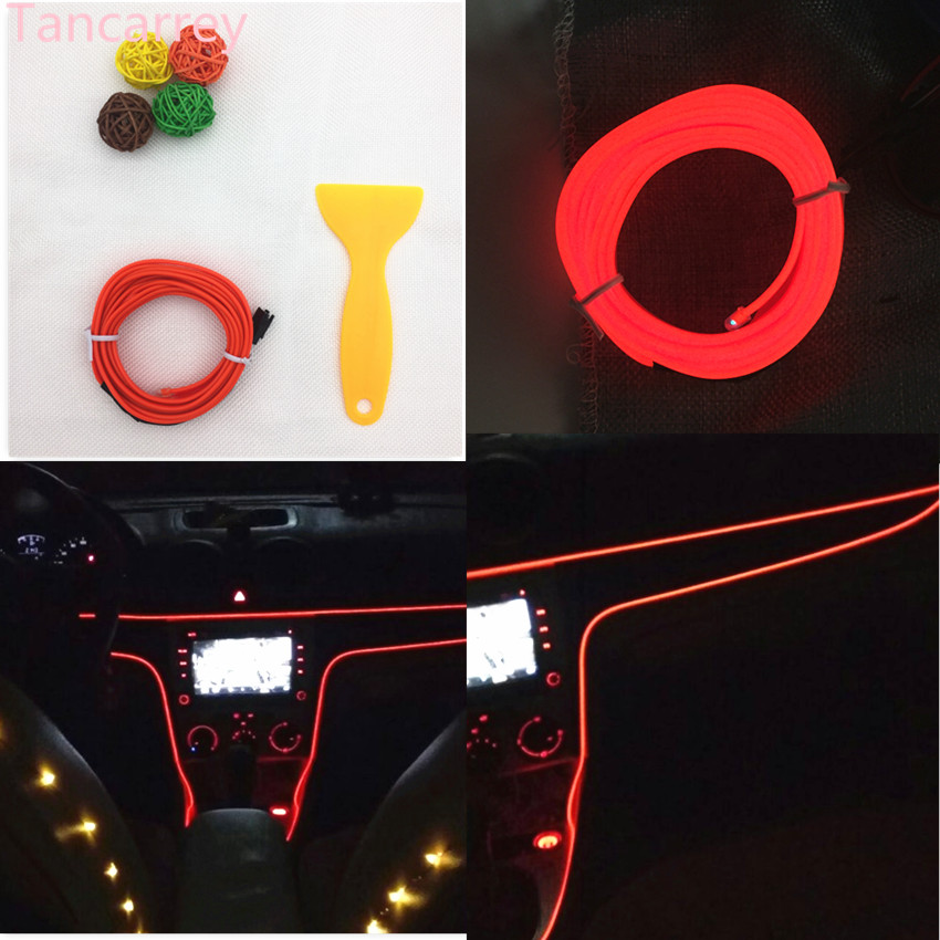 2017 new style Car styling <font><b>LED</b></font> decorative strip for peugeot 207 suzuki swift ford kuga mazda 6 <font><b>golf</b></font> 6 volkswagen Accessories image