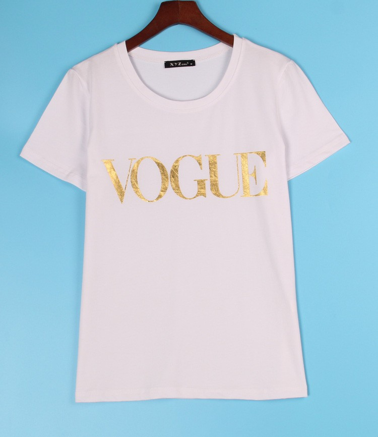 HTB1IRBNJVXXXXaDXXXXq6xXFXXXE - VOGUE Printed T-shirt Women Tops Tee Shirt Femme New Arrivals