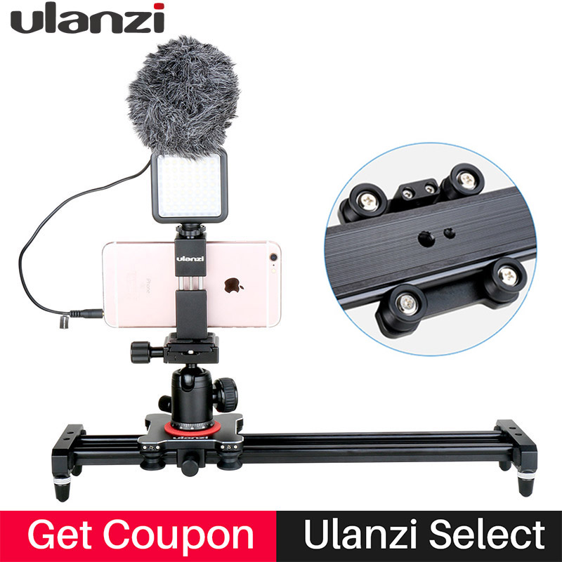 Ulanzi 40cm Follow Focus Camera Video Slider Rail Track Dolly Rail System with 4 Bearings for iPhone X 7p Nikon Canon Sony DSLR цена и фото