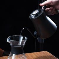 Kitchen Stainless Steel Drip Over Coffee Kettle Teapot Gooseneck with Wooden Handle Kitchen