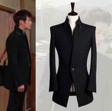 Подросток Зима осень стенд Воротник черный мужские шерстяные пальто подарки бренд свободные мужчины пиджак манто homme большой размер 9XL