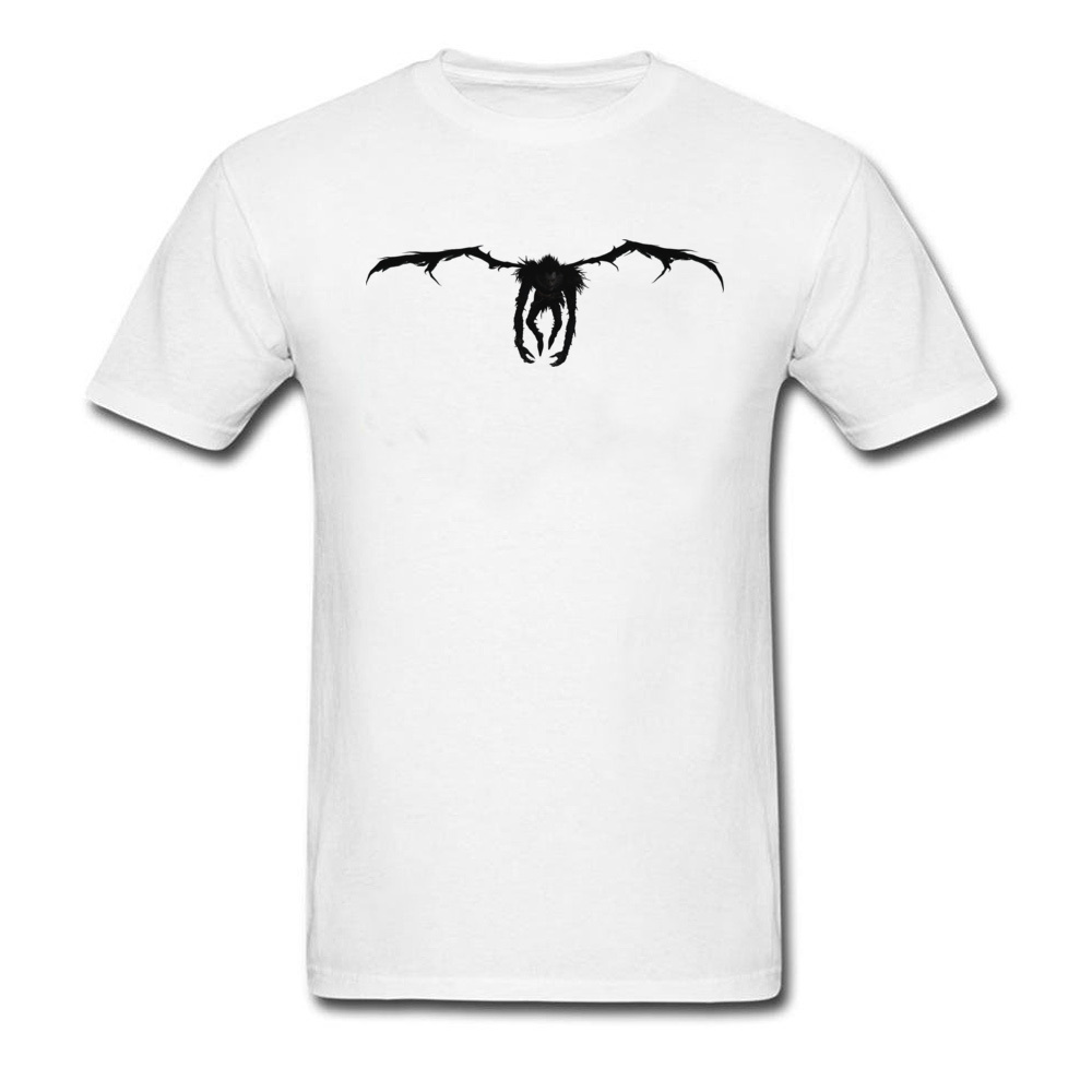 Death Note Ryuk Tshirt Men Custom Personalized T-Shirt 100% Breathable Cotton Fabric Clothes Sweatshirt Horror Movie T Shirt