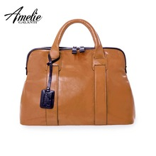 AMELIE GALANTI Fashion Women Totes Handbag Casual Top-Handle Bags High Quality PU Vintage Solid Zipper Soft Versatile Pocket amelie galanti handbag women totes classic patchwork serpentine large capacity daily use common style suitable for all ages 2017