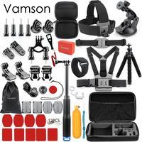 Vamson for Gopro Accessories Kit For Gopro Hero 6 5 Hero 4 Hero3 for Xiaomi for yi SJCAM SJ4000 VS88