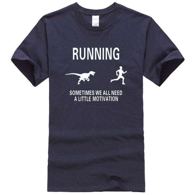 2017 summer fashion fitness Motivation camisetas Funny Dinosaur Tee Motivate  Runners man streetwear men t-