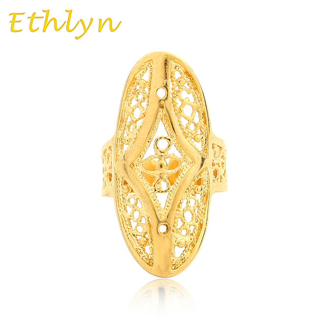 Ethlyn Ethiopian Wedding Ring Gold Color Free Size For Arab African Middle East