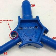 Сантехник инструменты отверстие развертки 16 мм/20 мм/26 мм PEX-al-PEX калибратор для водопроводных труб в Китае, фитинги для труб