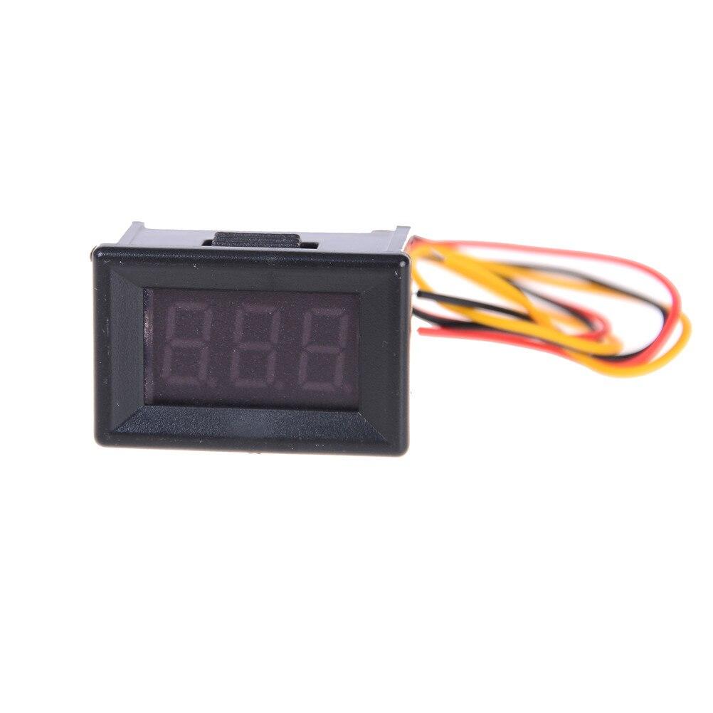 1 Mini voltímetro Digital DC 100 V 10A Panel amperios voltímetro de corriente rojo doble pantalla LED 3 cables