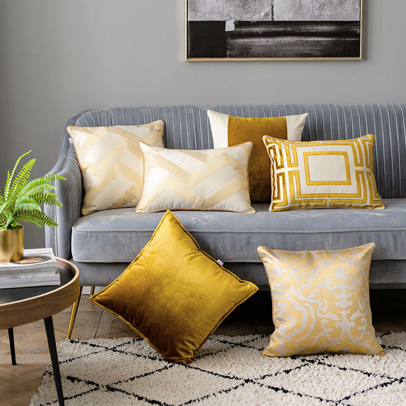 DUNXDECO Cushion Cover Decorative Pillow Case Modern Luxury Golden Jacquard High Quality Sofa Bedding Coussin