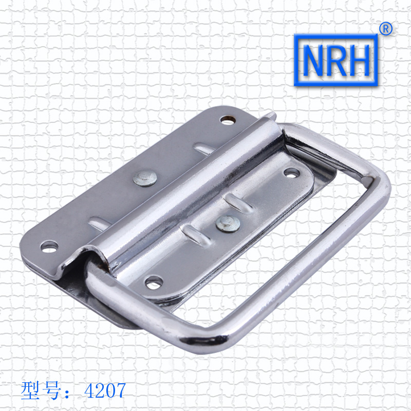 NRH4207 air box handle Aluminum box Wooden box ring Toolbox handle Chrome plated iron No spring function nitro triple chrome plated abs mirror 4 door handle cover combo