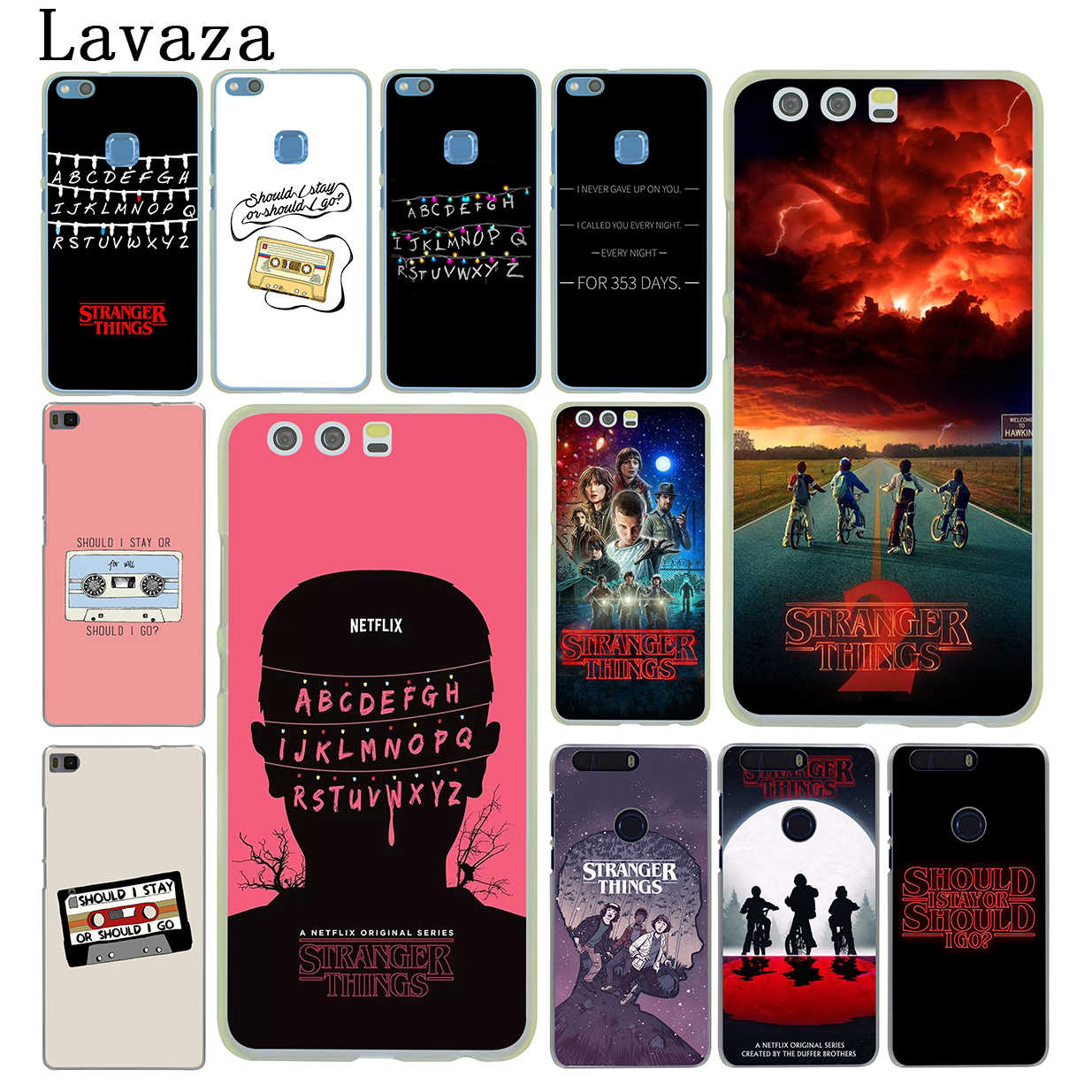 Lavaza should stay go Stranger Things Hard Phone Cover for Huawei P8 P9 P10 P20 P30 Lite Plus P20 P30 Pro P smart 2019 Case
