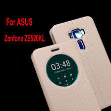 Smart Flip Leather Phone Case For ASUS Zenfone3 ze520kl 5.2 Inch Full Cover Stand With Sleep Window Wallet Phone Bag For ZE520KL